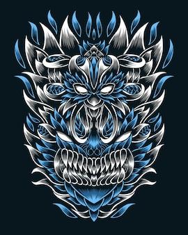 삽화 삽화 무서운 야생 생물