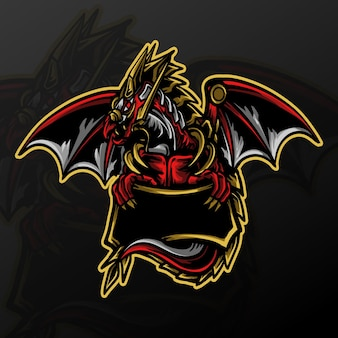 Artwork illustration and t shirt design dragon mascot logo
