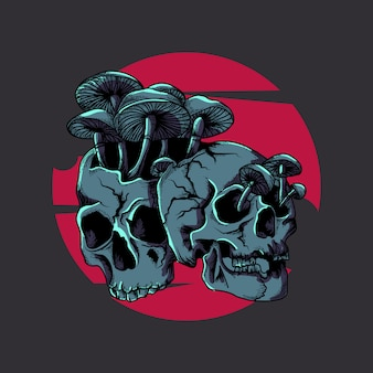 Artwork illustration and tshirt design skulls