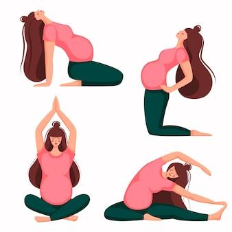 Asana poses for a pregnant woman.