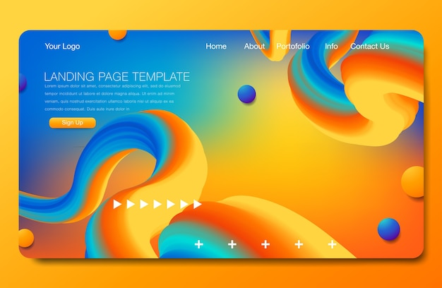 Asbtract background design. landing page template