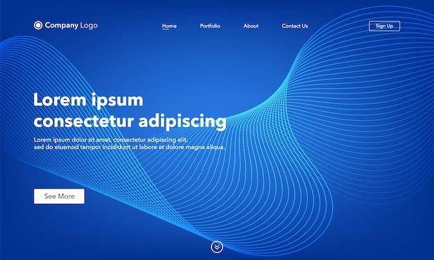 Asbtract background website abstract landing page template