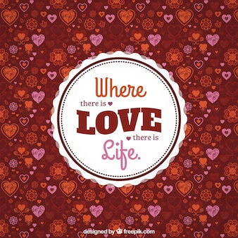 Asbtract love hearts background