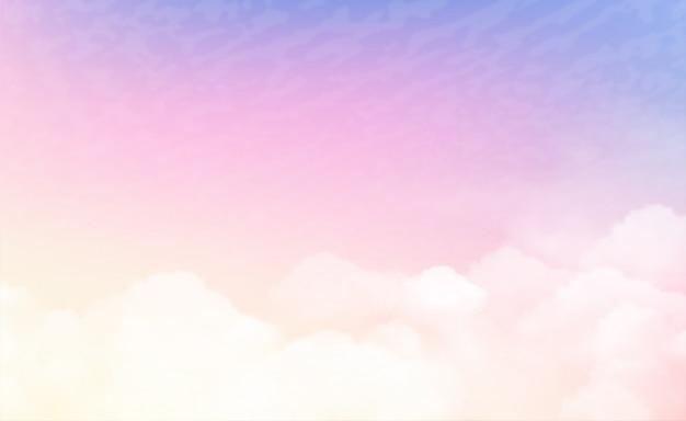 파스텔 색상의 하늘
