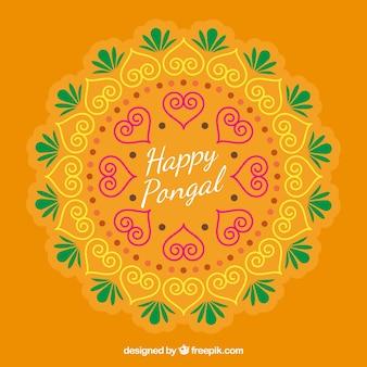 Asbtracto декоративные фоне счастливого pongal