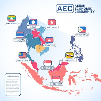 Asean map illustration