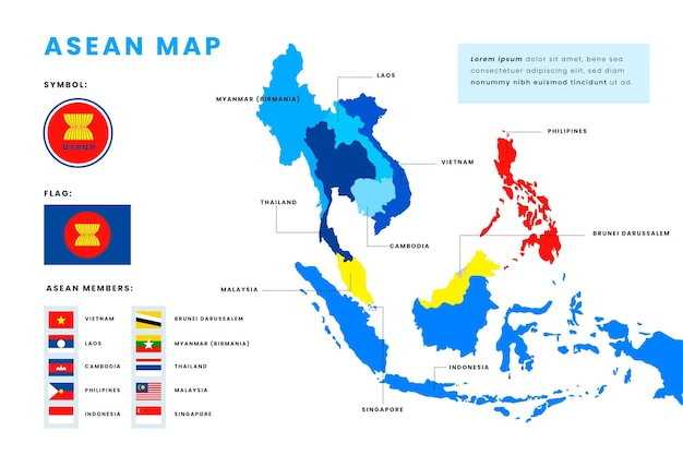 Asean map infographics