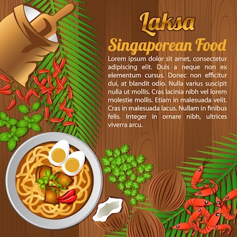 Asean national food,singapore