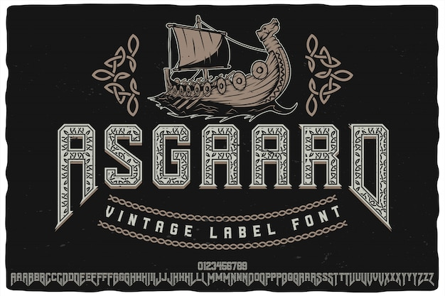 Asgaard label typeface