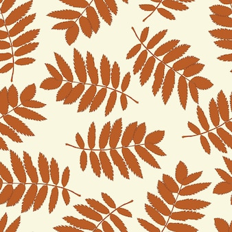 Ash leaves seamless background for your