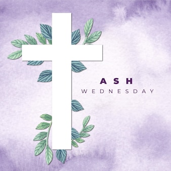 Ash wednesday background with cross