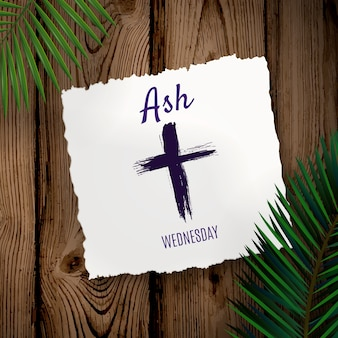 Ash wednesday event with leaves