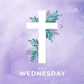 Ash wednesday watercolor background