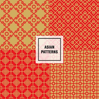 아시아 추상 모양 패턴