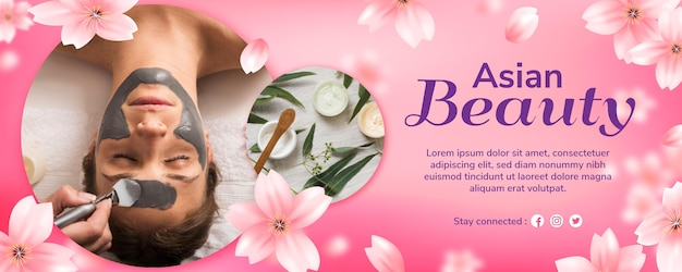 Asian beauty banners design