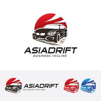 Asian drift logo template
