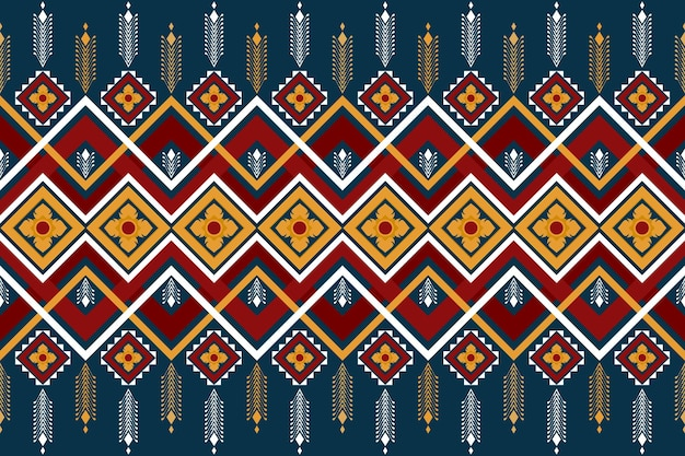 Asian floral vintage ethnic geometric oriental seamless traditional pattern. design for background, carpet, wallpaper backdrop, clothing, wrapping, batik, fabric. embroidery style. vector.