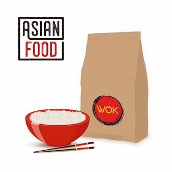 Азиатская еда, китайская или японская.
