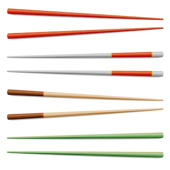 Asian food chopsticks isolated illustration
