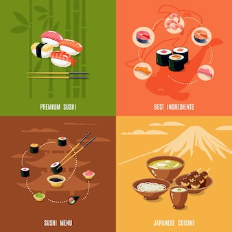 Asian food design concept