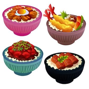 Asian food tempura fish meat