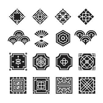アジアの装飾のアイコン