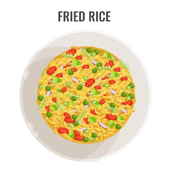 Asian recipe spicy fried rice