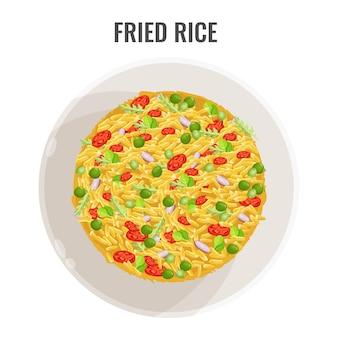 Азиатский рецепт пряного жареного риса