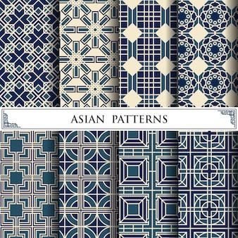 Азиатский бесшовный образец