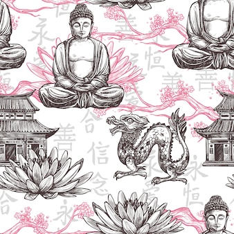 Asian seamless pattern