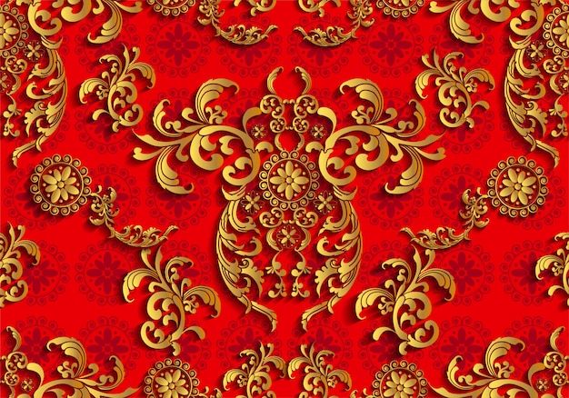 Asian thai traditional art design seamless pattern