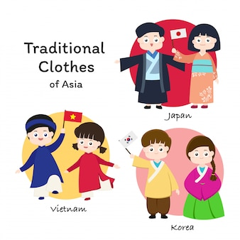 Asian traditional clothes