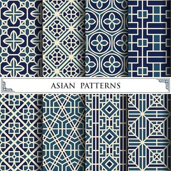 웹 페이지 배경에 대 한 아시아 벡터 패턴