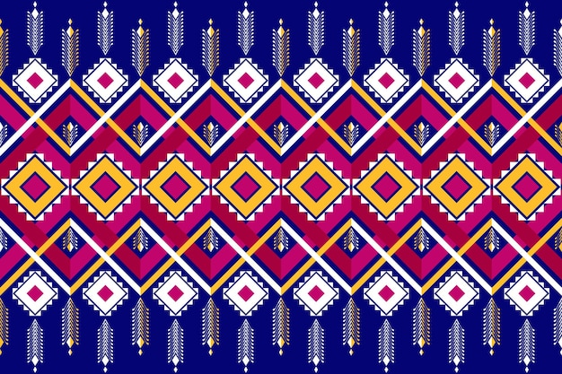 Asian vintage ethnic geometric oriental seamless traditional pattern. design for background, carpet, wallpaper backdrop, clothing, wrapping, batik, fabric. embroidery style. vector.
