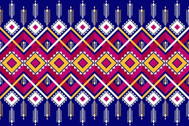アジアのヴィンテージ民族幾何学的な東洋のシームレスな伝統的なパターン。背景、カーペット、壁紙の背景、衣類、ラッピング、バティック、ファブリックのデザイン。刺繡スタイル。ベクター。
