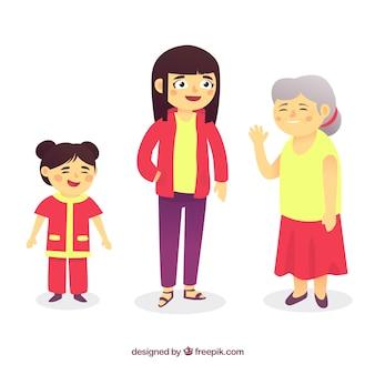 Коллекция азиатских женщин в разное время