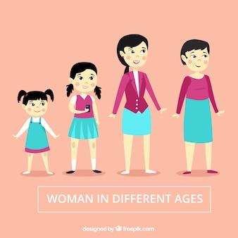 Коллекция азиатских женщин с разным возрастом