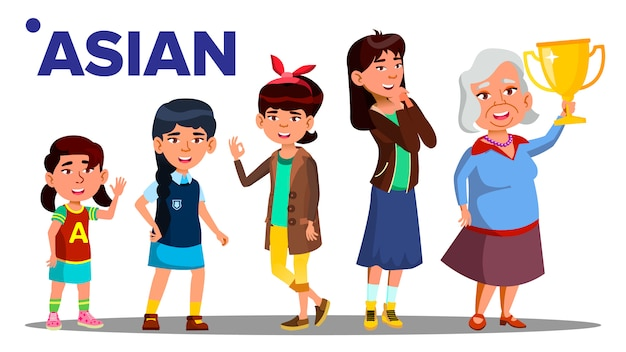 Asiatic generation female people