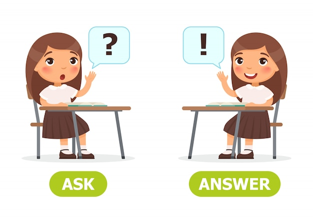 Ask and answer illustration.