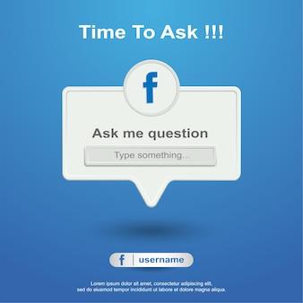 Ask me question social media on facebook
