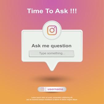 Ask me question social media on instagram