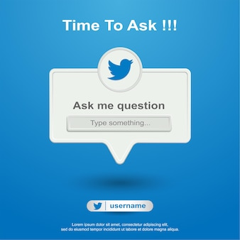 Задайте мне вопрос в соцсети на твиттере