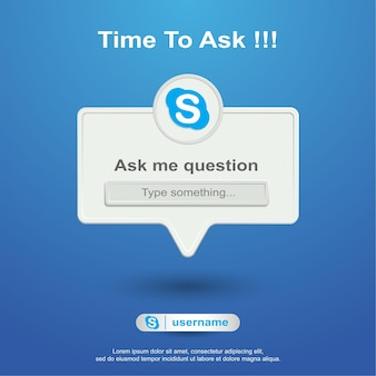 Ask me question social media on skype