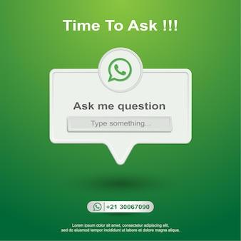 Ask me question social media on whatsapp