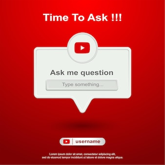 Ask me question social media on youtube