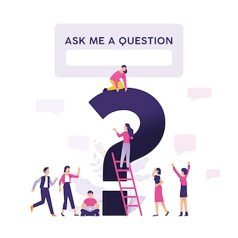 Ask me question  vector illustration