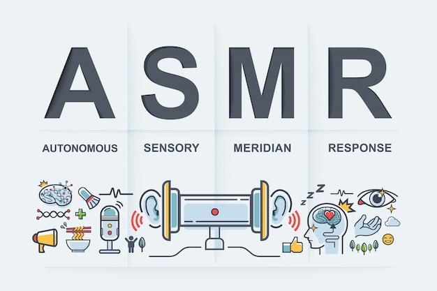 Asmr 자율 감각 자오선 반응.