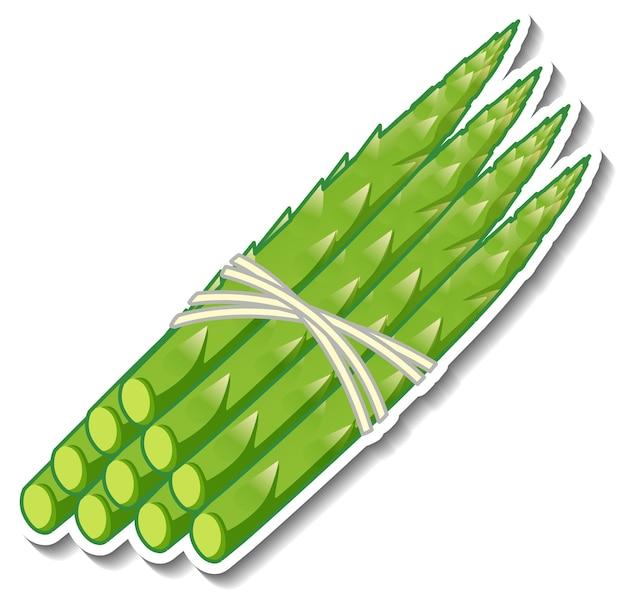 Adesivo asparagi su sfondo bianco