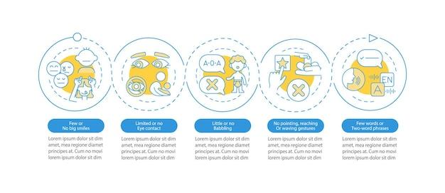 Знаки аспергера в детском инфографическом шаблоне