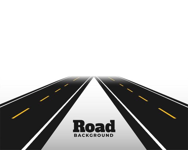 Asphat road nell'orizzonte prospettico